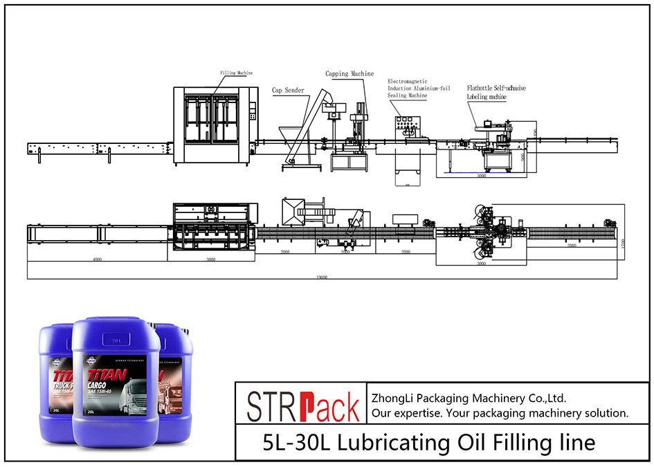 Samodejna linija za dolivanje mazalnega olja 5L-30L