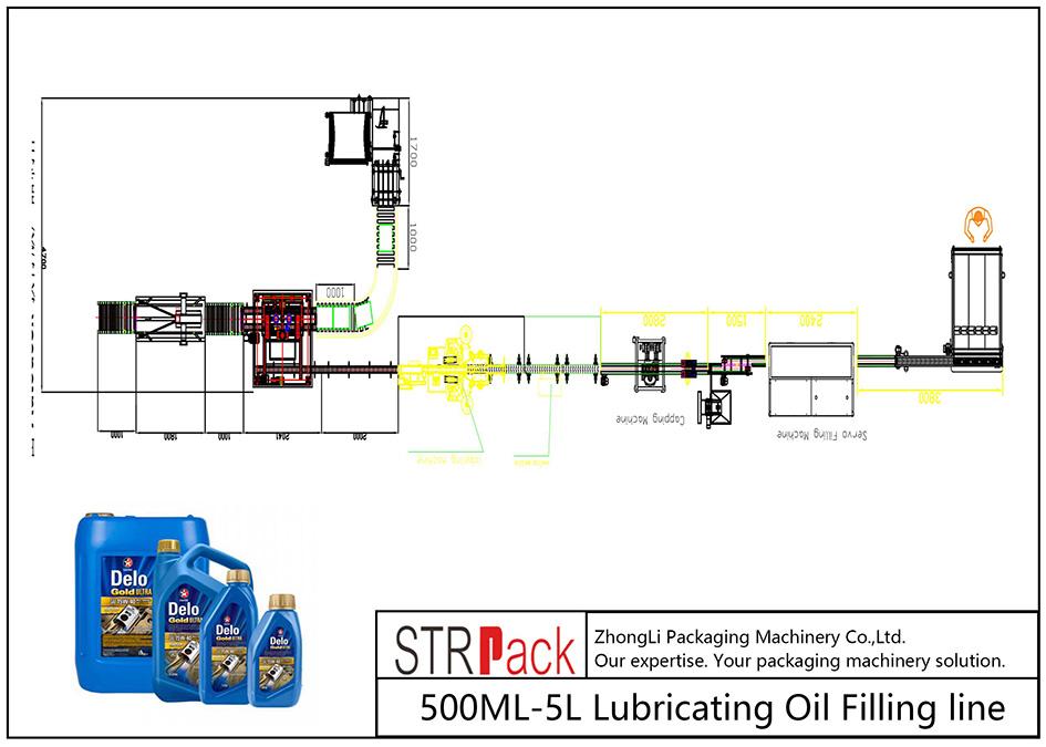 Samodejna linija za dolivanje mazalnega olja 500ML-5L