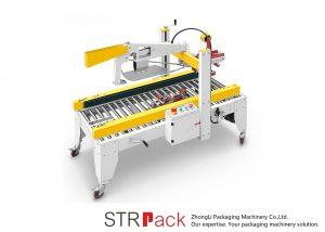 Avtomatski stroj za zaklepanje lepilnih trakov zložljiv karton