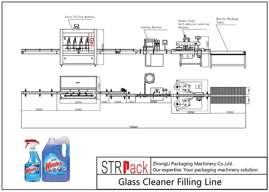 Avtomatska polnilna linija za čiščenje stekla