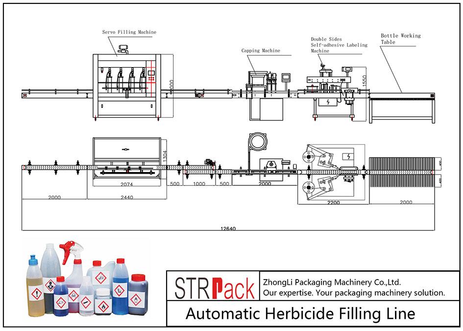 Avtomatska linija za polnjenje herbicidov