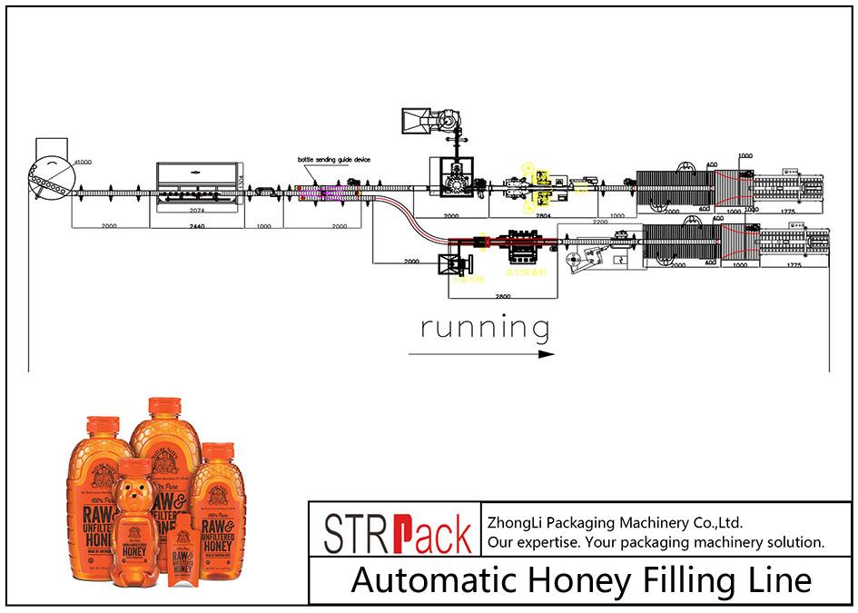 Avtomatska linija za polnjenje medu