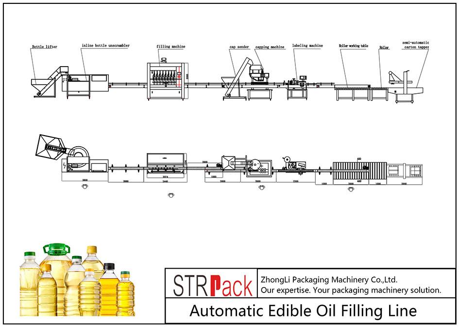 Avtomatska linija za polnjenje jedilnega olja