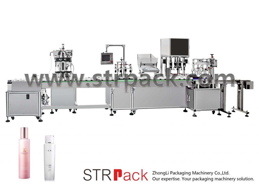 Avtomatski stroj za polnjenje in zapiranje emulzije v vodo