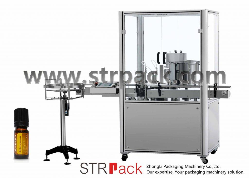 Stroj za stiskanje pokrovčkov z eteričnim oljem