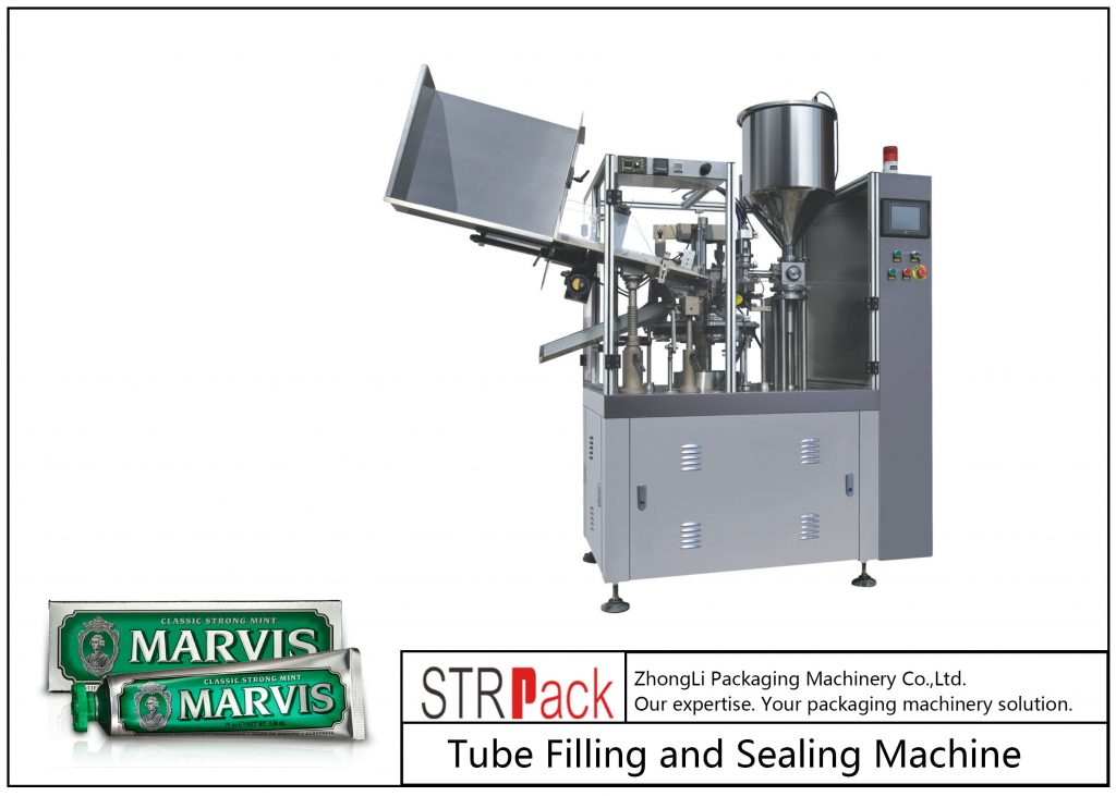 Stroj za polnjenje in tesnjenje plastičnih cevi SFS-60