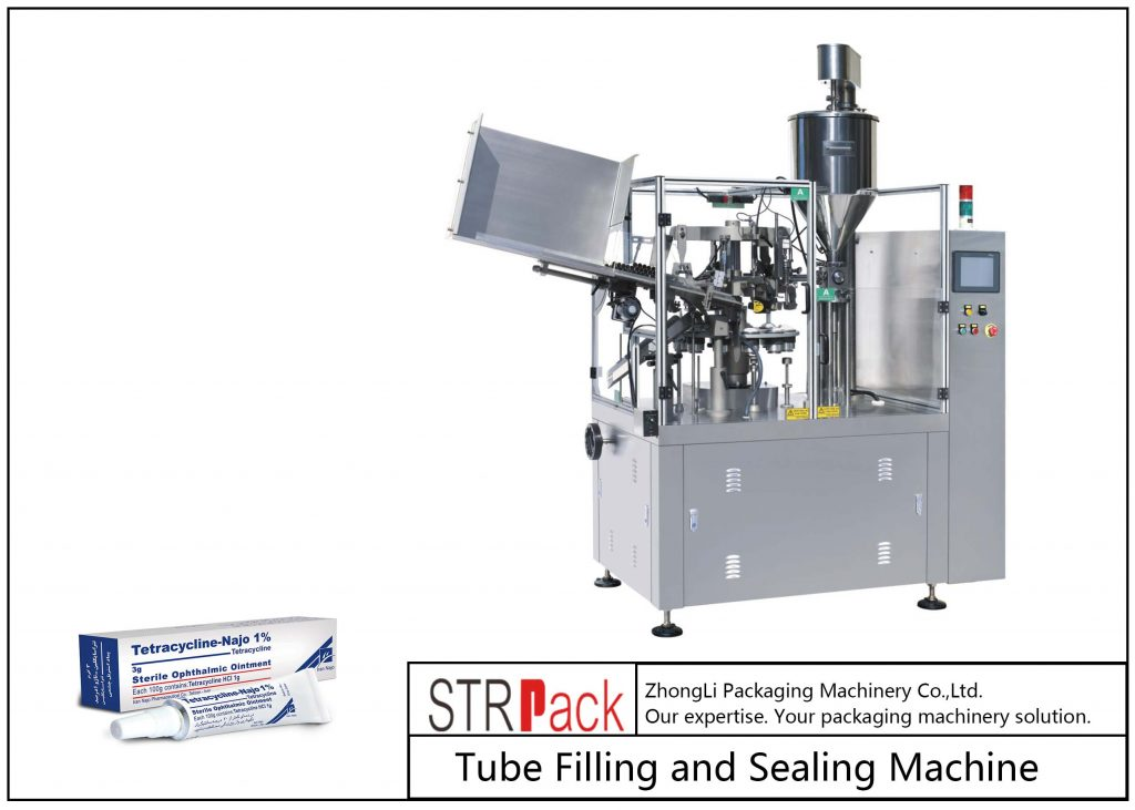 Stroj za polnjenje in tesnjenje kovinskih cevi SFS-80Z