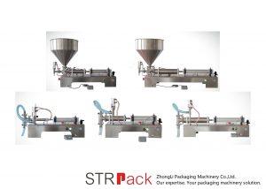 Polavtomatski stroj za polnjenje z batnimi tekočinami
