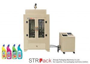Stroj za polnjenje tekočega čistila za stranišče
